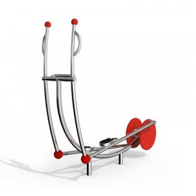 Lauko treniruoklis iš nerūdijančio plieno V2A skirtas viso kūno raumenų, širdies, kraujagyslių, kvėpavimo ir imuninės sistemos stiprinimui baltame fone
