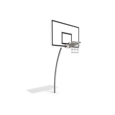 Krepšinio lankas iš nerūdijančio plieno V2A baltame fone