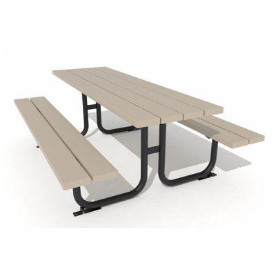 Pikniko stalas iš grūdinto plieno ir kompozito lentų